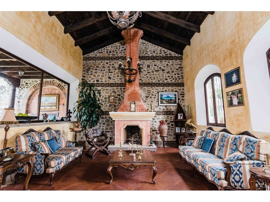 hermosa casa amueblada en renta hacienda san jeronimo antigua