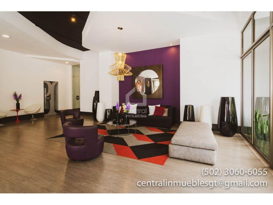 moderno apartamento de una habitacion en venta o alquiler zona 10