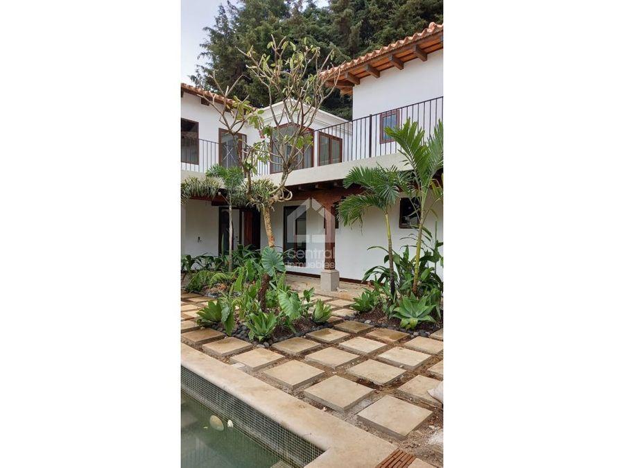 casa con piscina en venta en jardines de antigua