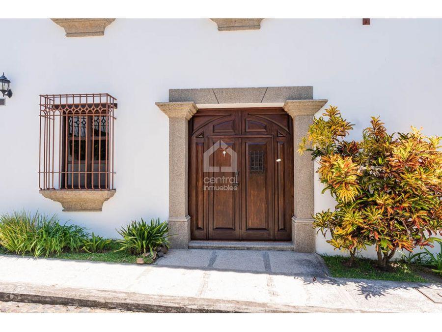 casa amueblada en alquiler en la serenisima antigua guatemala