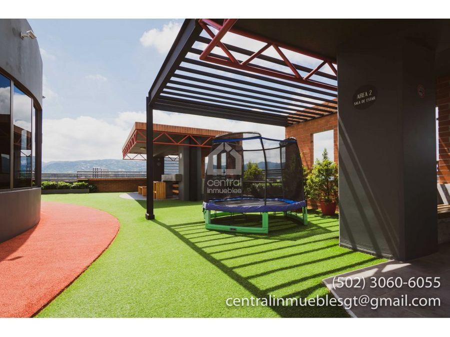 2 habitaciones con amplia terraza en zona 10