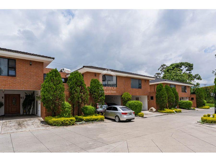 casa en venta en excelente condominio de las charcas zona 11