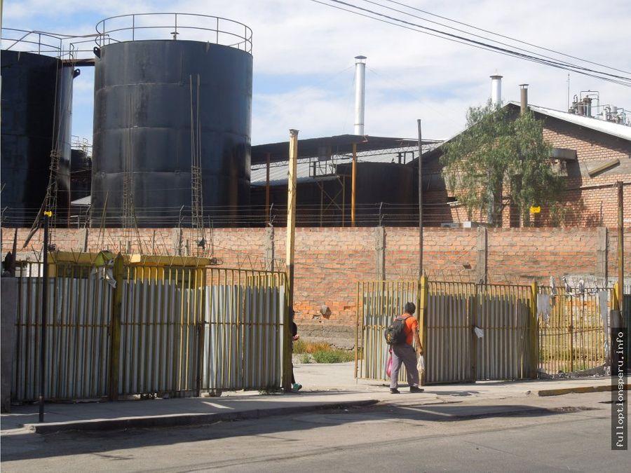 terreno en venta parque industrial arequipa