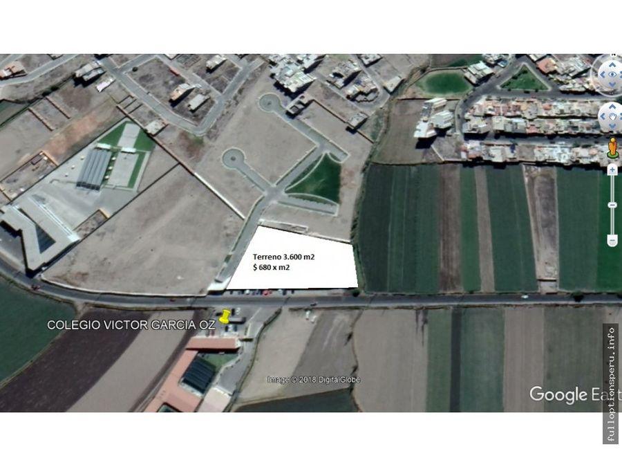 terreno en venta en sachaca 3600 m2