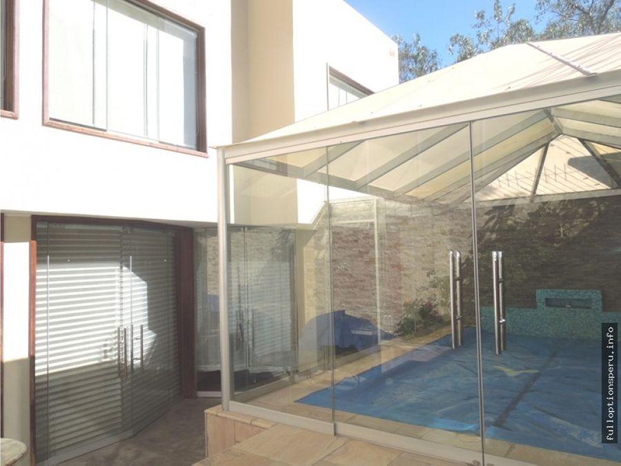 casa con piscina en cayma