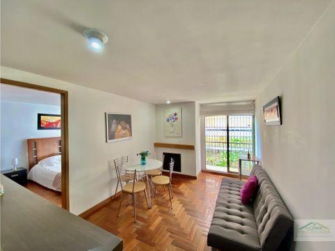 santa paula apartaestudio con habitacion independiente y balcon