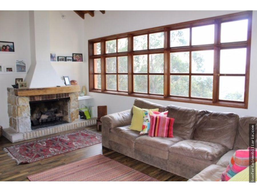 venta de casa en las montanas chia