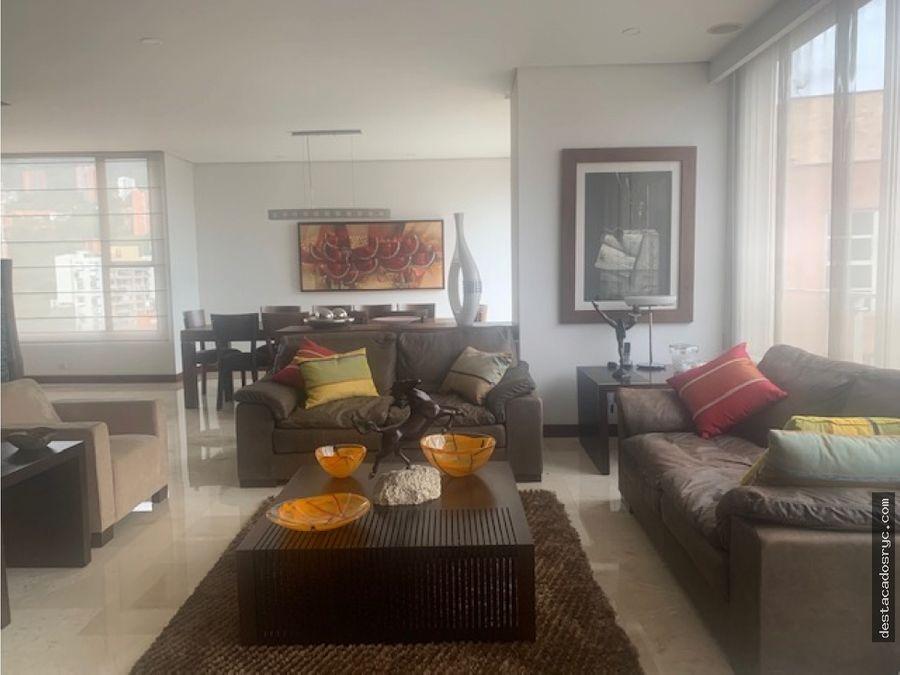 exclusivo apartamento en venta en el poblado la tomatera
