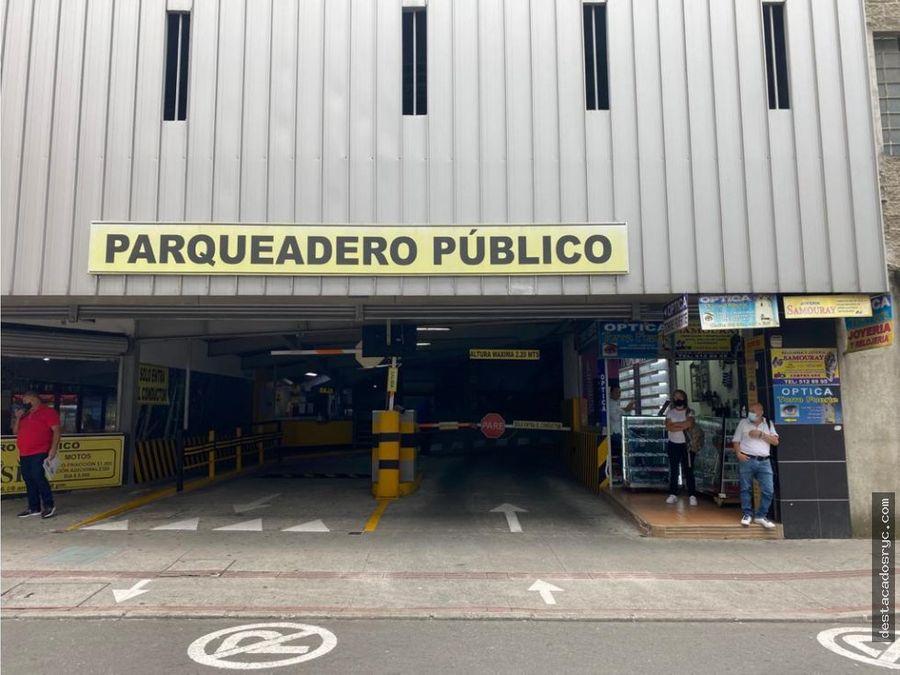 edificio de parqueaderos con excelente ubicacion