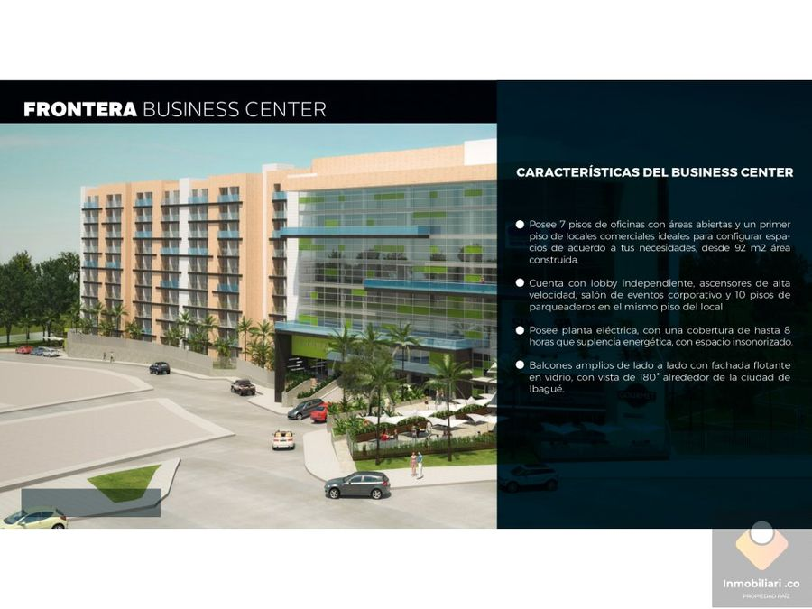 venta oficina ibague frontera business center piso 4