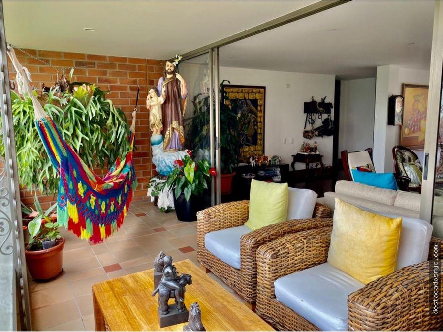 apartamento en venta en el poblado loma las santas