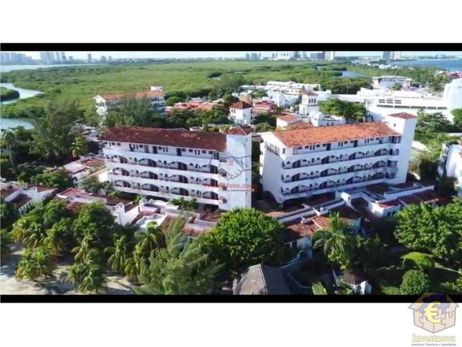 hotel en cancun en venta como terreno