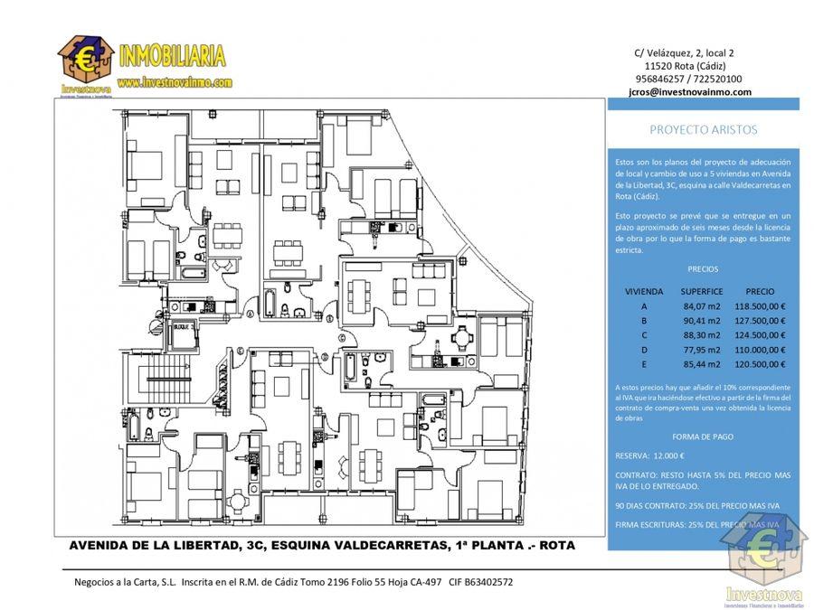 proyecto de 5 viviendas en rota