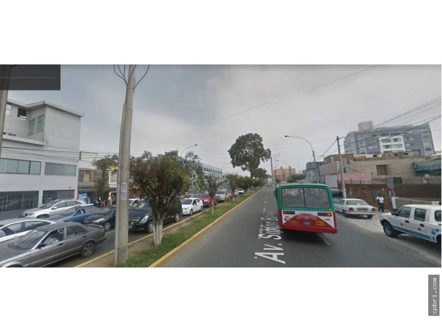 terreno comercial av bolivar pueblo libre 182 mt2