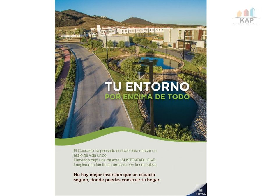 venta terrenos habitacionales el condado queretaro