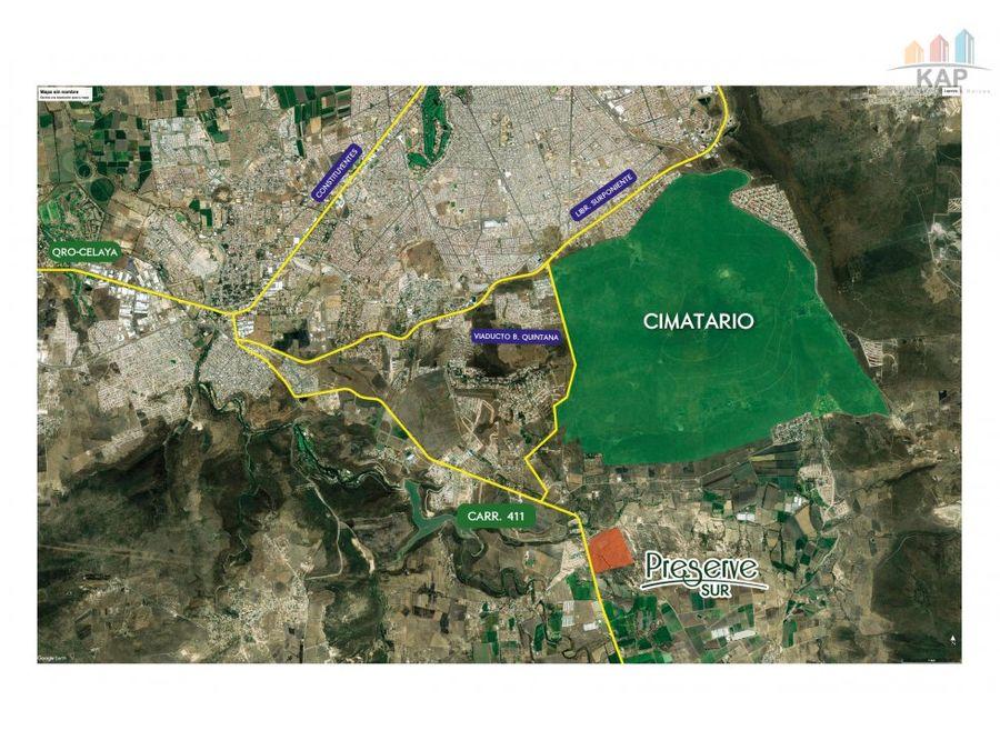 terreno preserve sur corregidora queretaro