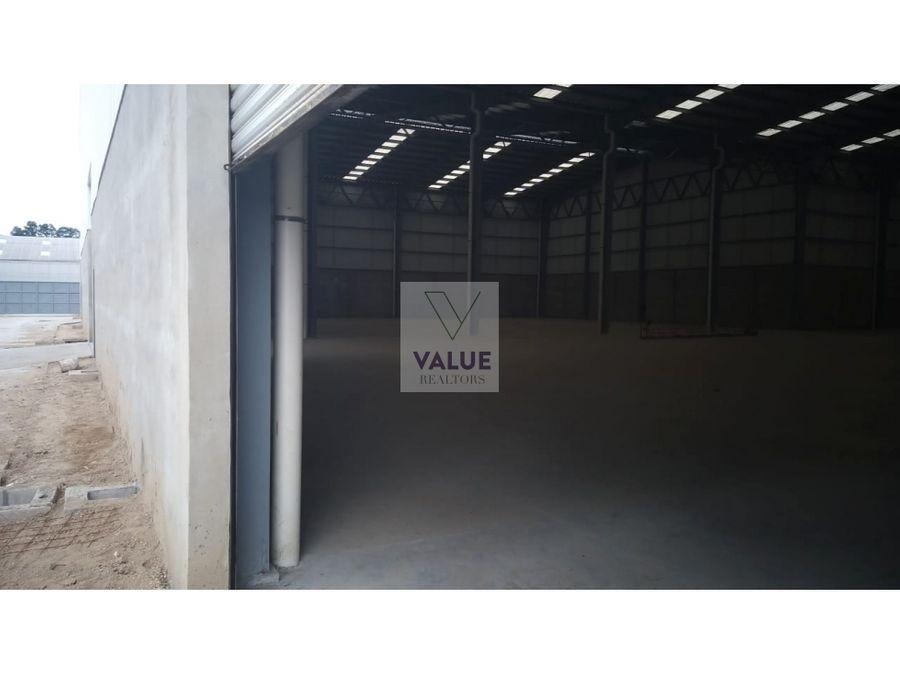 renta bodega 2150 m2 en san miguel petapa en condominio