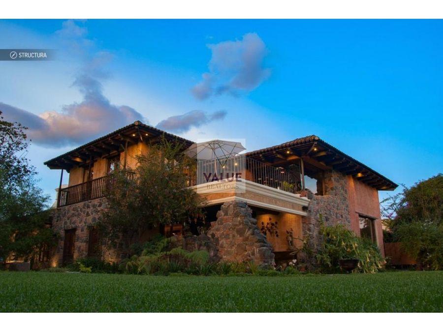 venta casa exclusiva en sector de antigua