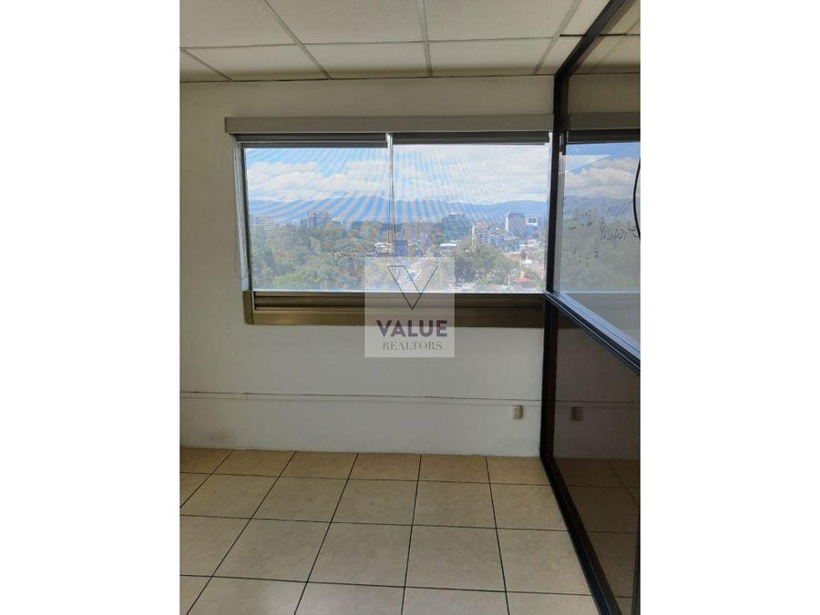 renta oficina de 88m2 en exclusivo edificio zona 10 20c