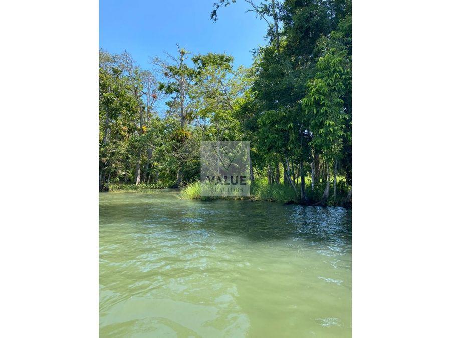venta terreno en rio dulce 2497v2 43mts de frente