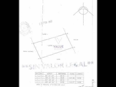 venta terreno 993v2 en acacias cayala 1