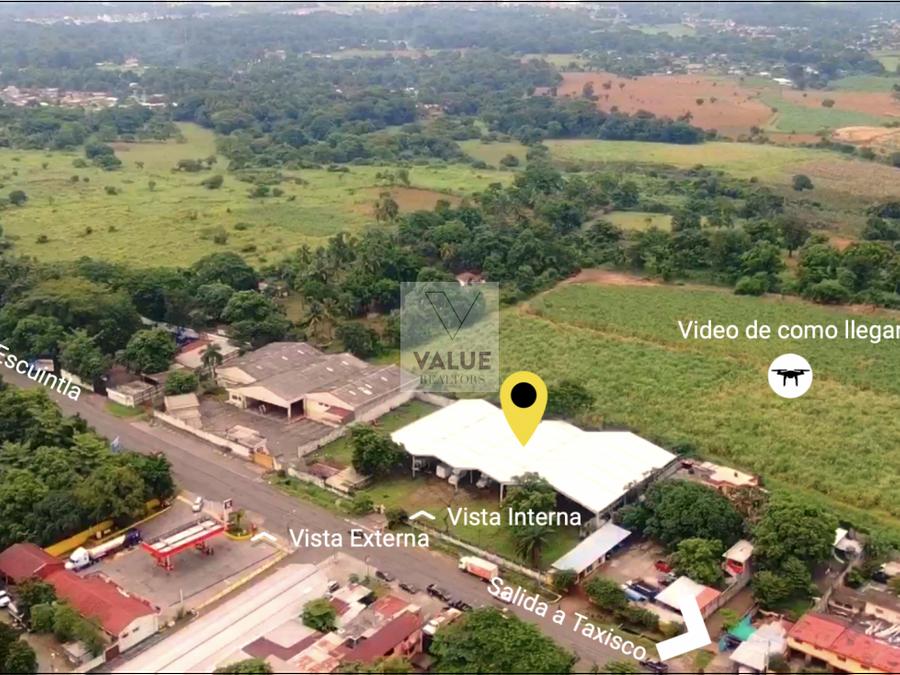 venta bodegas en escuintla 2609 m2 y 12mz terreno