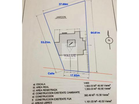 venta terreno g3 2223v2 en zona 15 vh ideal para edificio