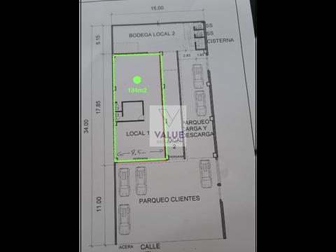renta local comercial en z9 en 5ta calle 134m2