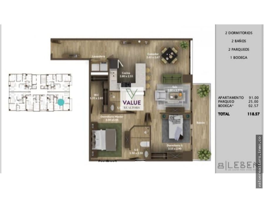 venta y renta apartamento en z15 vista hermosa