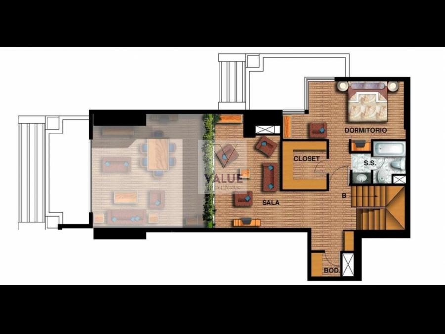 venta exclusivo apartamento 2 dorms en z10 190m2