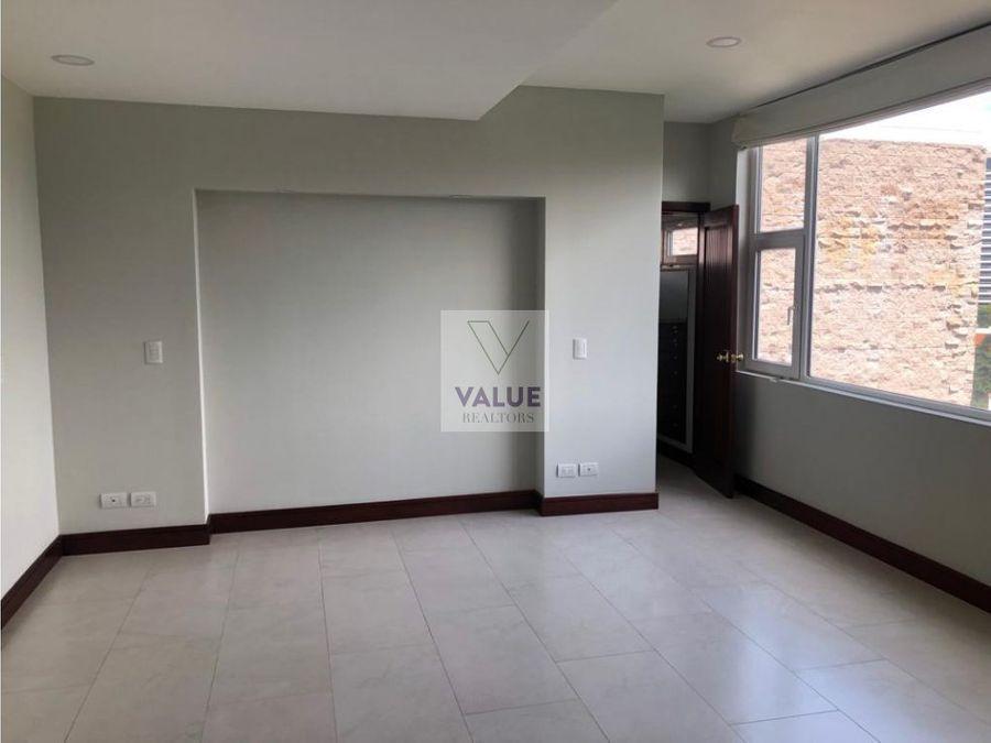 renta exclusivo apartamento 400mts2 en z14