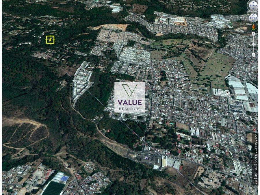 venta terreno mixco ideal desarrollo 18mz