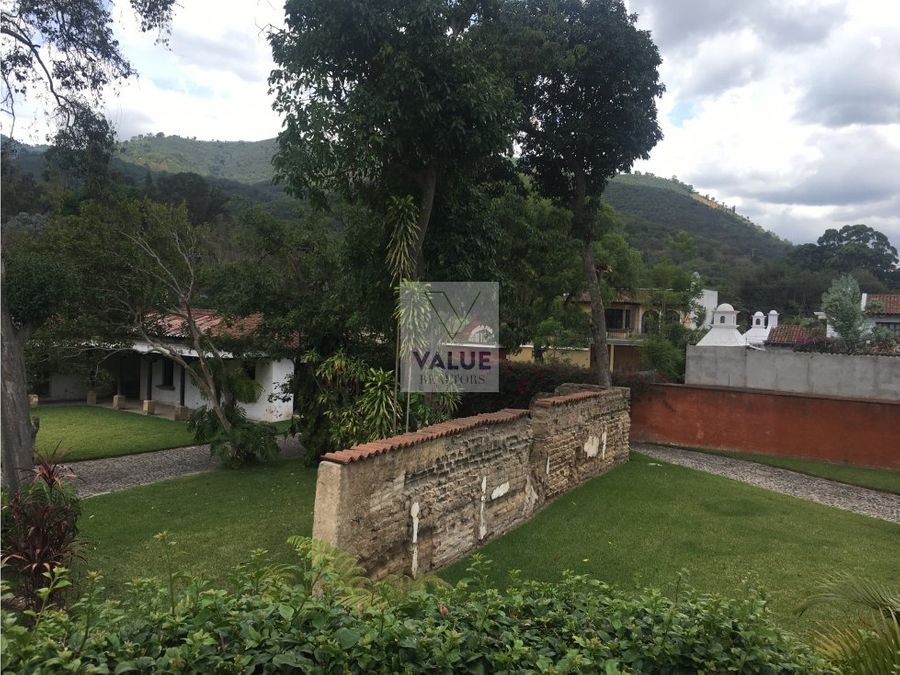 venta exclusiva casa cerca de antigua 1mz terreno