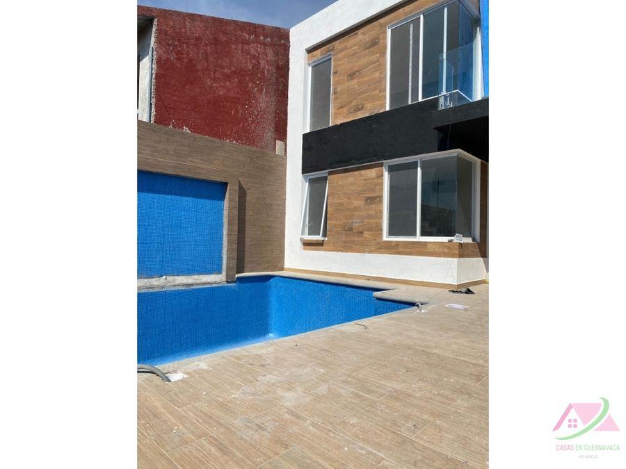 nuevas casas con alberca y jardin privado al sur de cuernavaca mor