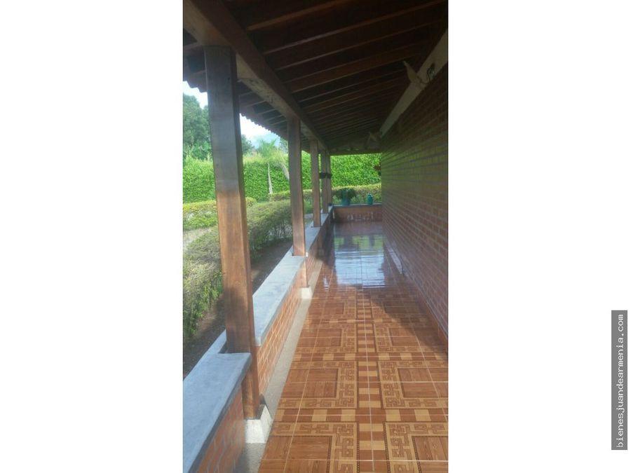 casa campestre con lote 2650 mts2 via tebaida