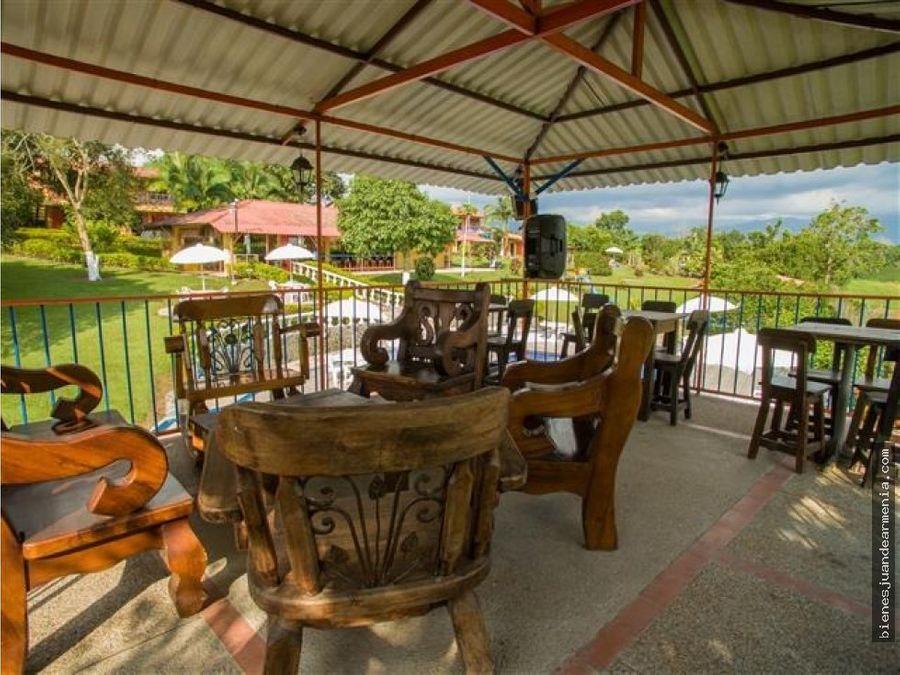 venta finca hotel acreditada parque del cafe
