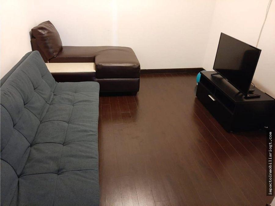 apartamento amueblado en zona 14