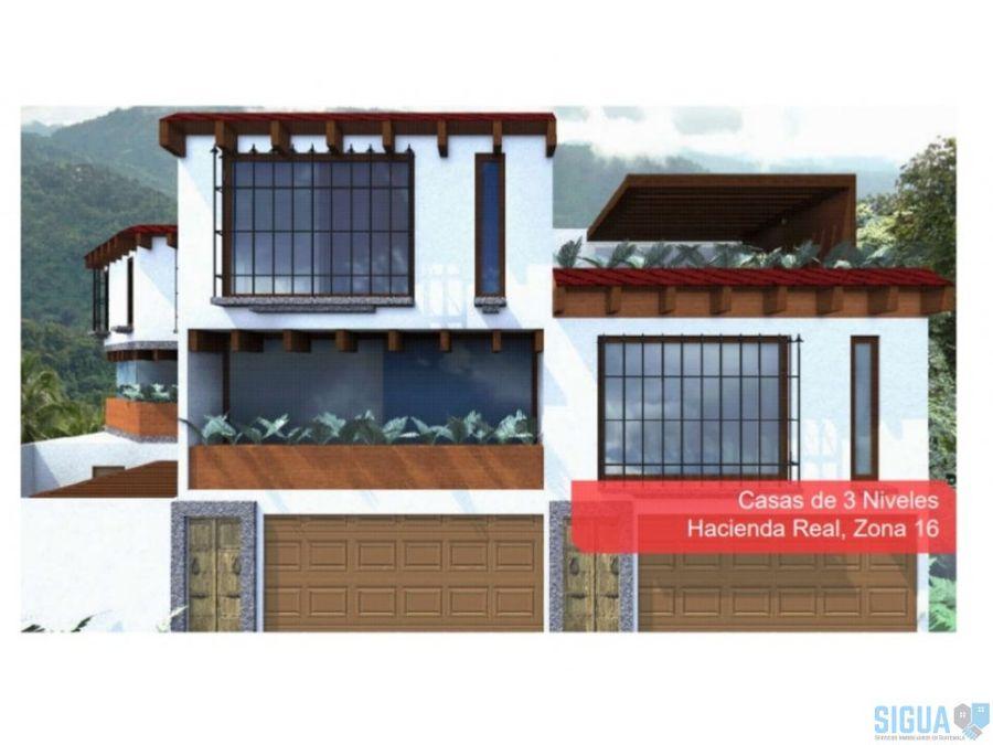 casa 3 niveles en venta en zona 16 1