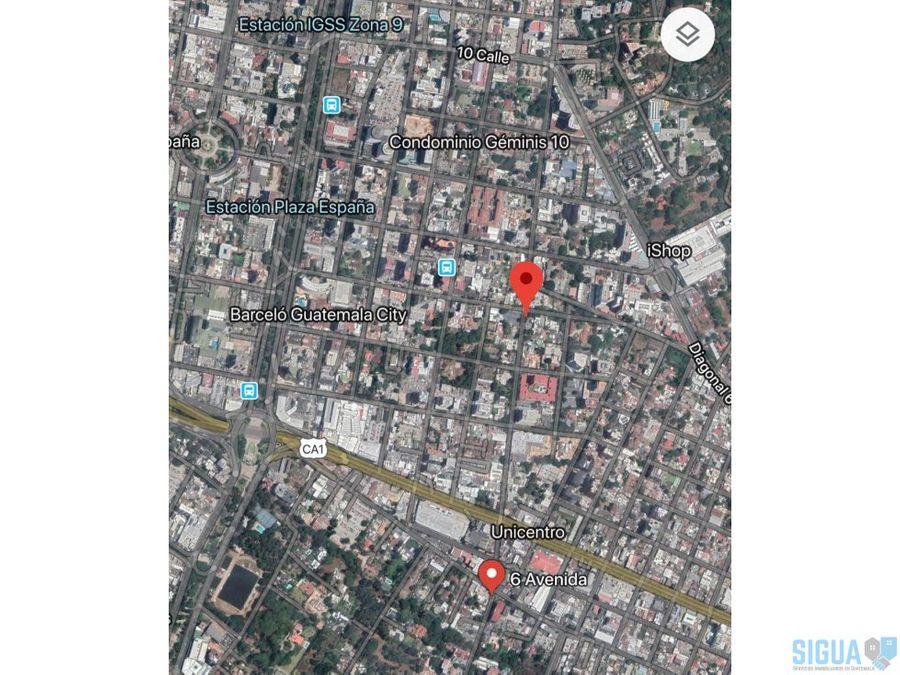 terreno en venta excelente ubicacion zona 10