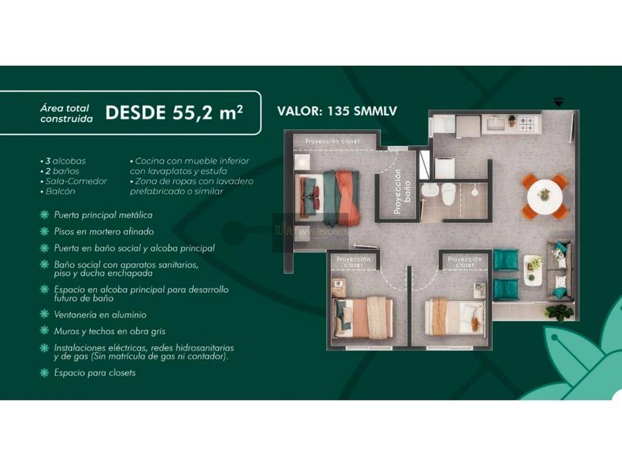 proyecto vis apartamentos al norte de armenia 3 habitaciones
