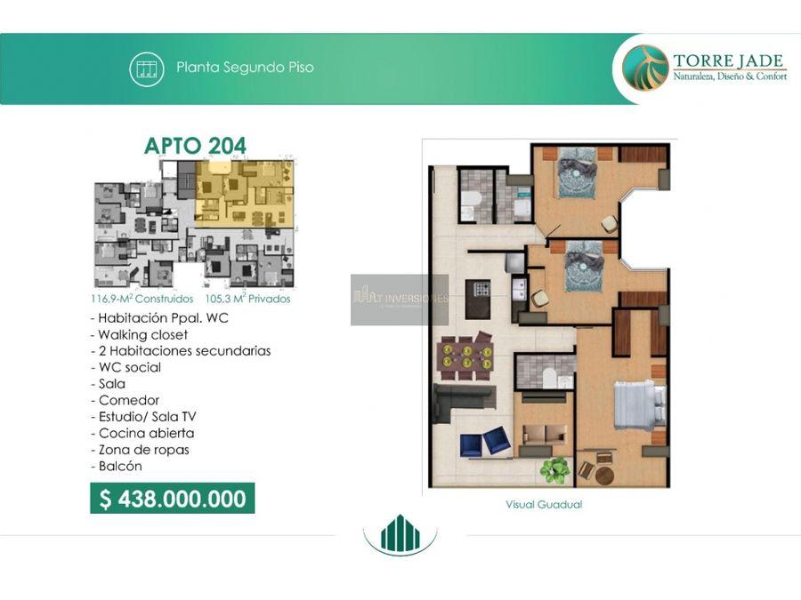 apartamentos al norte 3 habitaciones aplica subsidio no vis