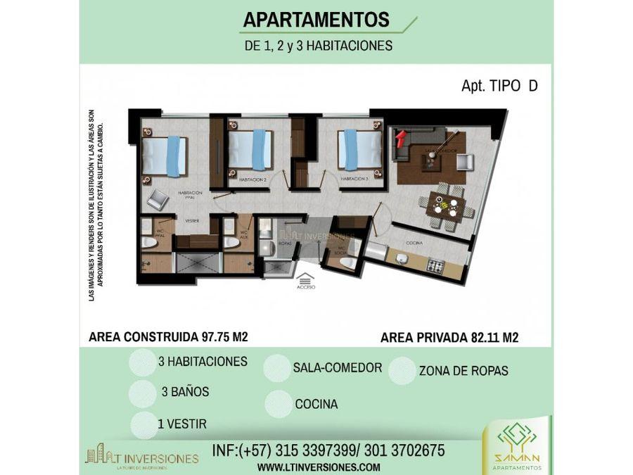 saman apartamentos norte armenia 3 alcobas