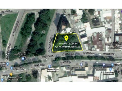 terreno en avenida lara valencia sector san blas edo carabobo