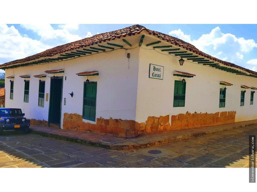 venta casa en barichara corata