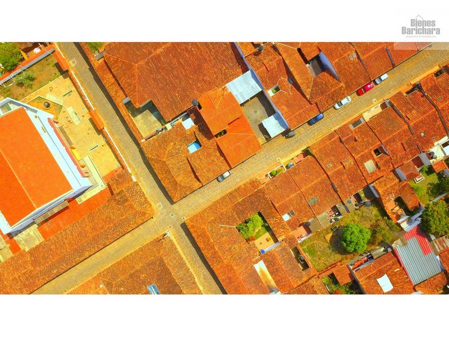 vendo lote urbano barichara zona centrica