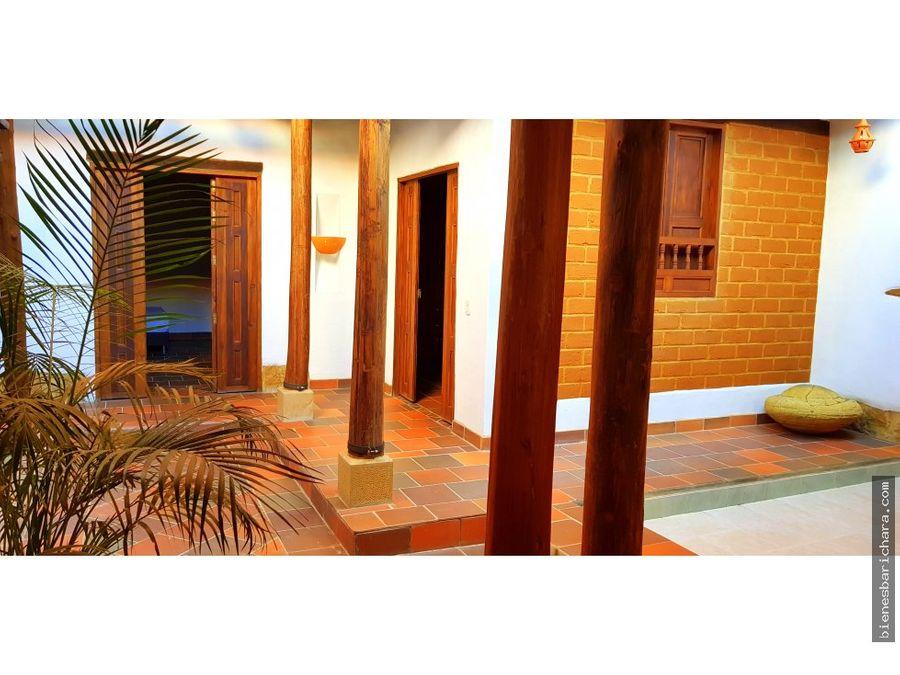 venta casa en barichara guane urb moncora