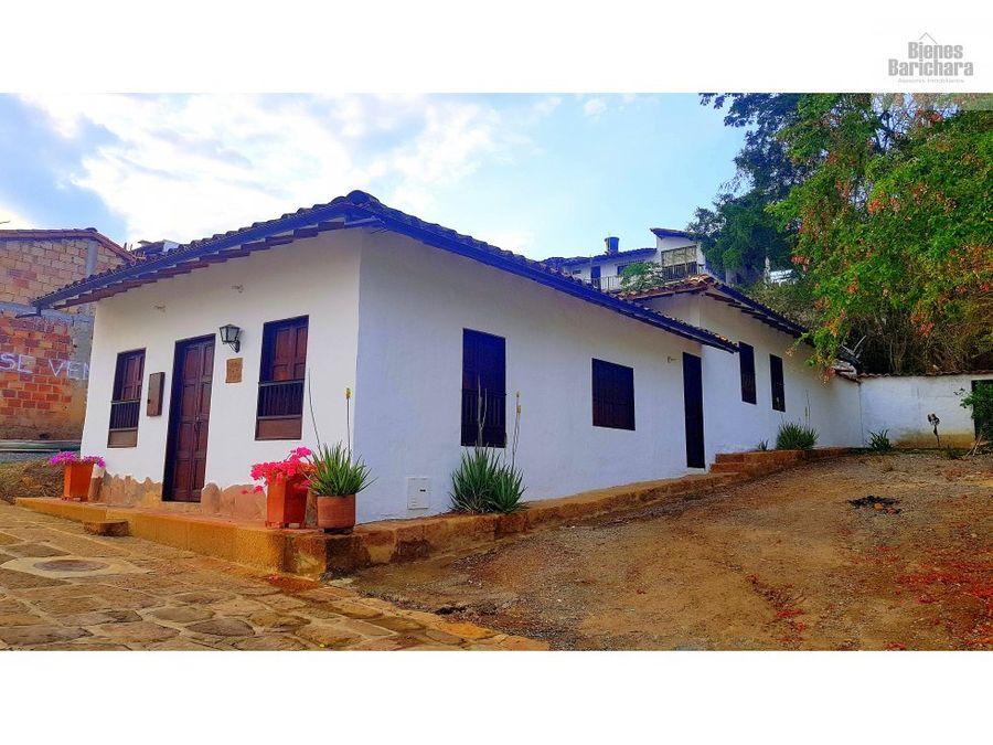 venta casa en barichara villagladys