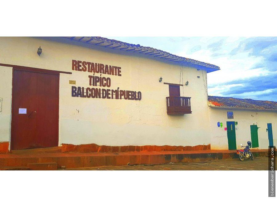 venta restaurante en barichara balcon de mi puebl