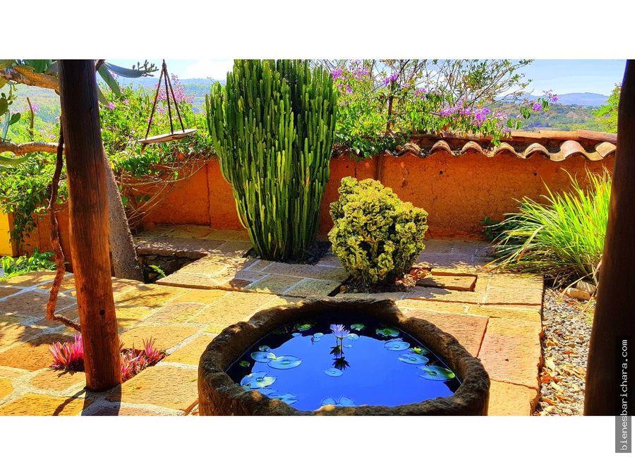 venta casa en barichara casa el agua