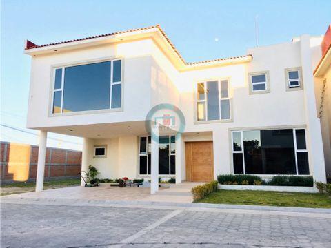 casa nueva en venta en metepec por av estado mexico residencial